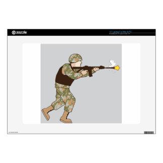 "Soldier in action 15"" laptop skin"