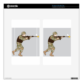 Soldier in action decal for kindle fire