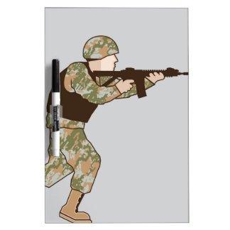 Soldier in action Dry-Erase board