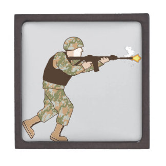 Soldier in action gift box