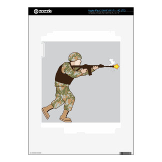 Soldier in action iPad 3 skins