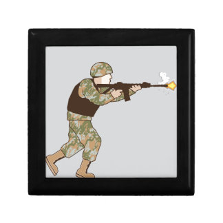 Soldier in action jewelry box