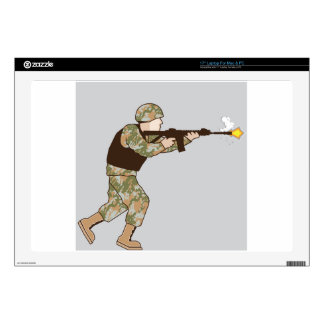 """Soldier in action skin for 17"""" laptop"""