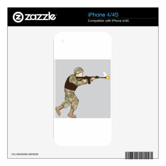 Soldier in action skin for iPhone 4S