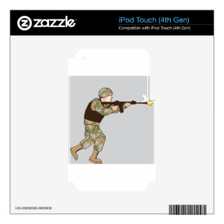 Soldier in action skin for iPod touch 4G