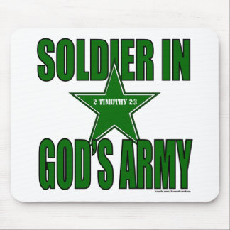 SOLDIER IN GOD'S ARMY MOUSE PAD