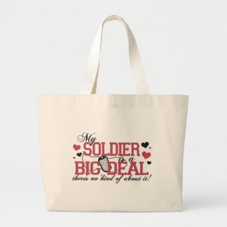 Soldier Is A Big Deal Jumbo Tote Bag