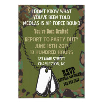 Soldier Joe Camouflage Party Invitation