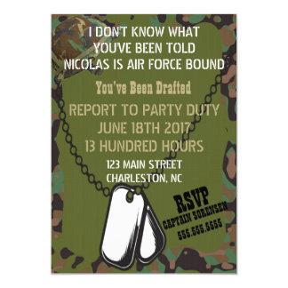 Soldier Joe GI Camouflage Party Invitation