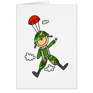 Soldier Jumper Greeting Cards