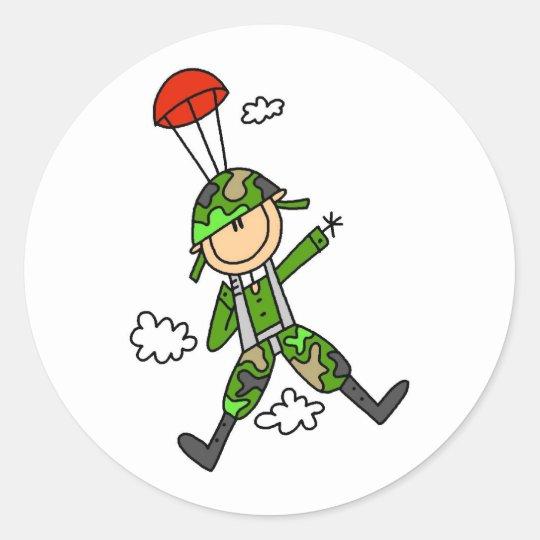Soldier Jumper Classic Round Sticker