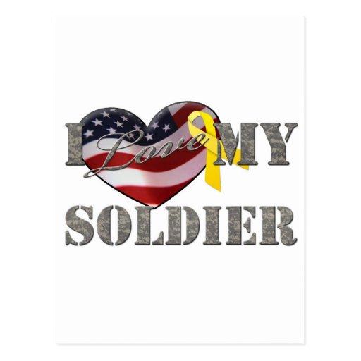 Soldier Love Postcard