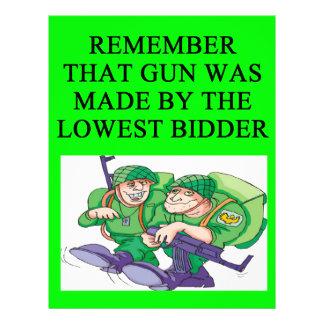 soldier lowest bidder joke full color flyer