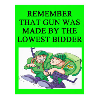 soldier lowest bidder joke letterhead template