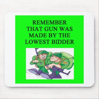 soldier lowest bidder joke mouse pads