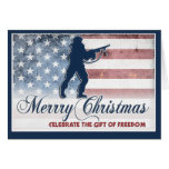 Soldier Merry Christmas Card