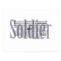 soldier oath postcard