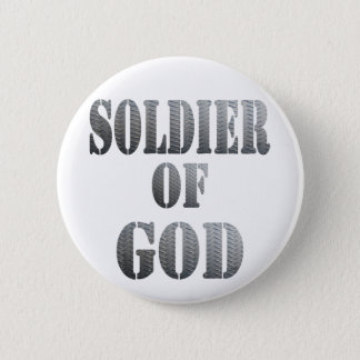 Soldier of God 5 Métal Button