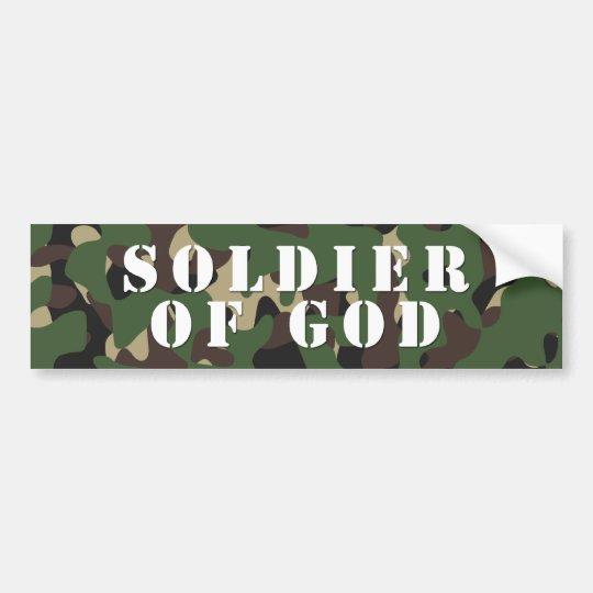 Soldier Of God Bumper Sticker