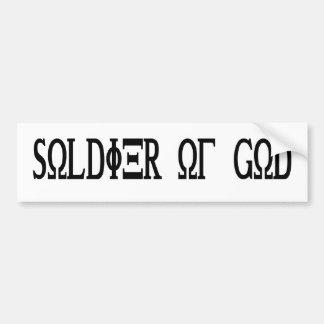 Soldier of God Grec Noir Bumper Sticker