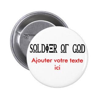 Soldier of God Grec Noir Pins