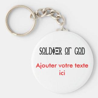 Soldier of God Grec Noir Keychain