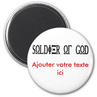 Soldier of God Grec Noir Fridge Magnet