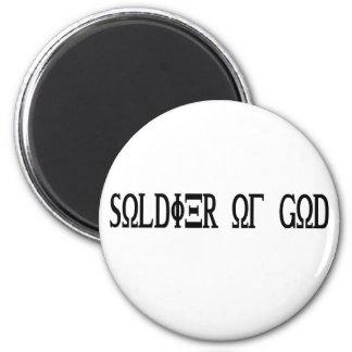 Soldier of God Grec Noir Magnet