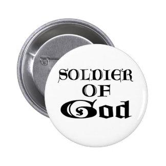 Soldier of God Noir 2 Inch Round Button