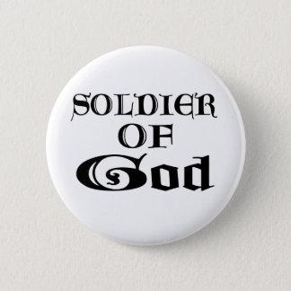 Soldier of God Noir Pinback Button