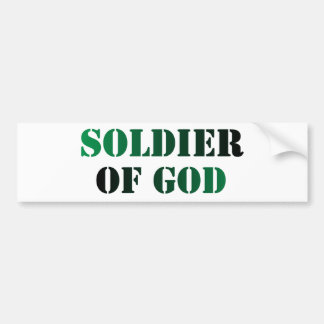 Soldier of God vert & noir Bumper Sticker