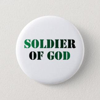 Soldier of God vert & noir Button