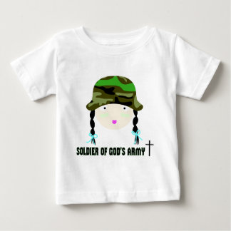Soldier of Gods Army christian gift Baby T-Shirt
