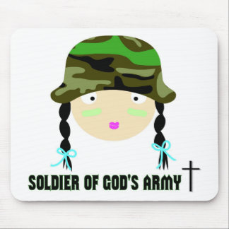 Soldier of Gods Army christian gift Mouse Pad