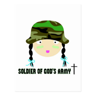 Soldier of Gods Army christian gift Postcard