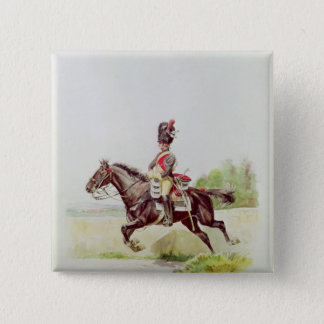 Soldier of the Imperial Guard on Horseback, 1898 Button