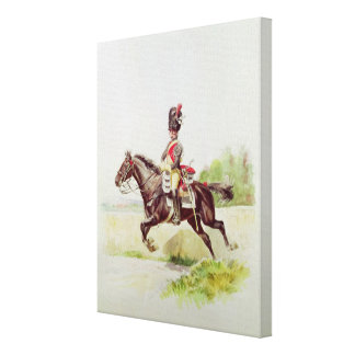 Soldier of the Imperial Guard on Horseback, 1898 Canvas Print