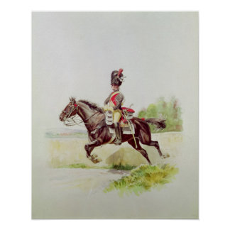 Soldier of the Imperial Guard on Horseback, 1898 Poster
