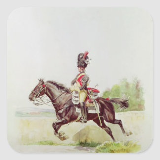 Soldier of the Imperial Guard on Horseback, 1898 Square Sticker
