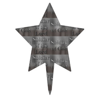 Soldier of the Lord Soldier of God Cake Topper