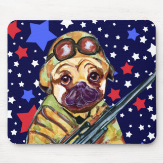 SOLDIER PUG MOUSE PAD