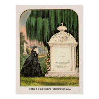 Soldier s Memorial by 1863 Poster