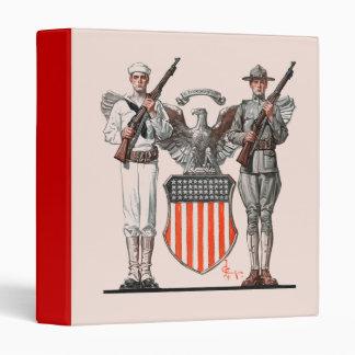 Soldier, Sailor and U.S. Shield Binder