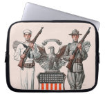 Soldier, Sailor and U.S. Shield Laptop Computer Sleeves