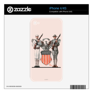 Soldier, Sailor and U.S. Shield iPhone 4S Decal