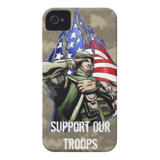 Soldier Salute design Case-Mate iPhone 4 Cases