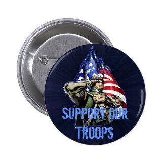 Soldier Salute Design Pinback Button