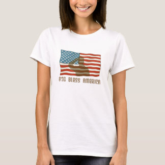 Soldier Saluting American Flag T-Shirt