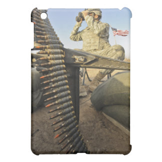 soldier scouts for enemy activity iPad mini case