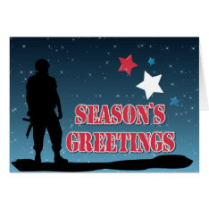 Soldier Season's Greetings Card at Zazzle